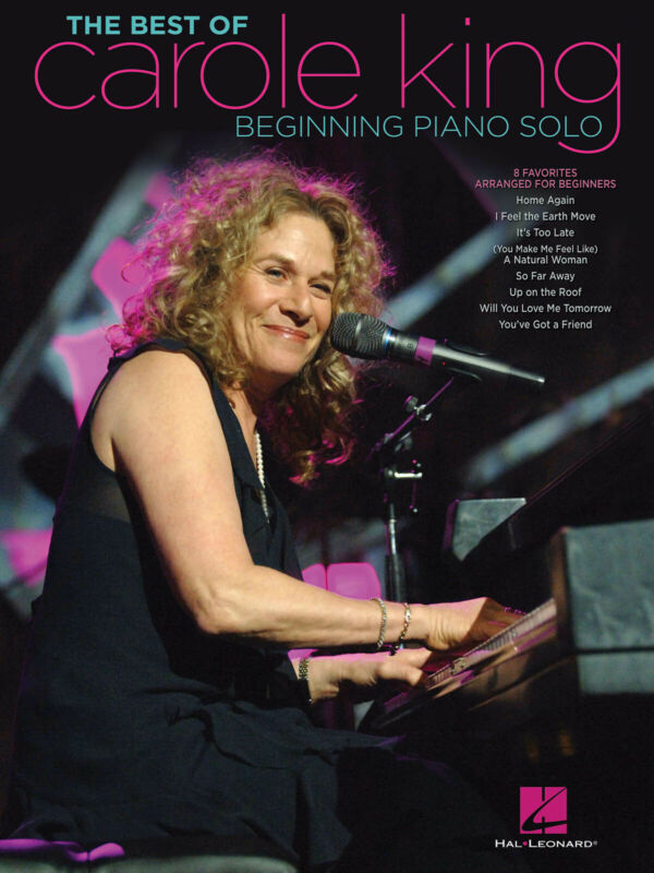 The Best of Carole King for Beginning Piano Solo Easy Sheet Music 8 Songs Book