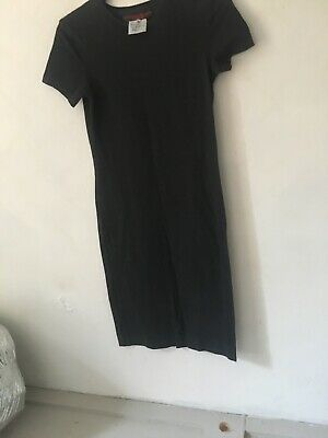 Vintage 80's Body Con Black Stretch Katharine hamnett Black Dress