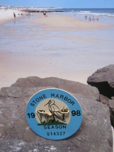 1998  STONE   HARBOR   NEW  JERSEY SEASONAL  BEACH  BADGE/TAG  23  YEARS  OLD