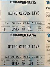 Nitro circus tickets x2 melbourne New Norfolk Derwent Valley Preview