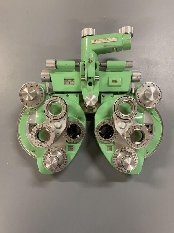 medical equipment optometry, American Optical, minus cylinder phoroptor