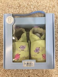Brand New Robeez Baby Shoes, 0-6 Months, Soft Soles Collection
