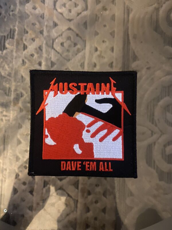 Megadeth Mustaine Iron On Patch