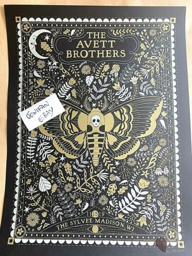 Avett Brothers Madison WI Nov 15th N1 2019 Poster Print SIGNED S/N #/200 🧀