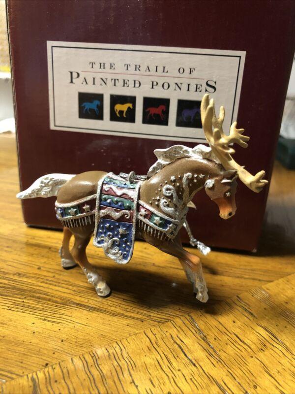 Trail Of Painted Ponies 2006 Reindeer Roundup Ornament Holiday Horse NIB