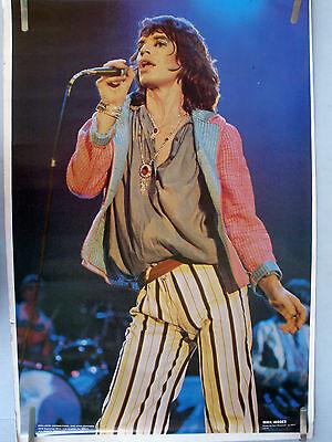 RARE THE ROLLING STONES MICK JAGGER 1977 VINTAGE ORIGINAL MUSIC POSTER