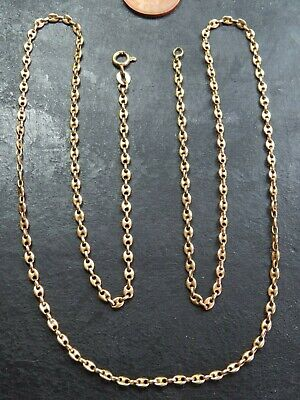 VINTAGE 18ct GOLD GUCCI or ANCHOR LINK NECKLACE CHAIN 25 1/2 inch C.1980