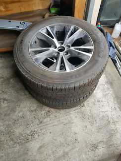 2014 to 2017 toyota kluger rims and tyres