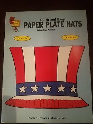 Vintage Paper Plate Hats Book_1986_Teacher_School_Homeschooling Book - Paper Plate Hats