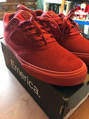 Emerica Red Andrew Reynolds 3 G6 Vulc X Baker Skate Shoes bling bling RARE LOOK (Emerica Reynolds 3)