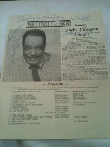 Duke Ellington Concert Program at Theater Concerts of Houston 5 Signatures