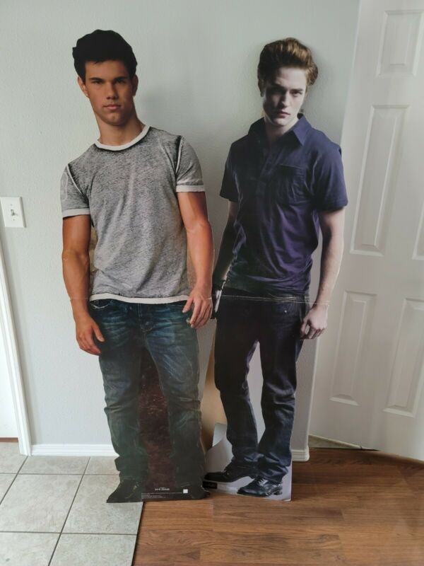 The Twilight Saga New Moon Life Size Cardboard Cut Out Edward Cullen Jacob Black