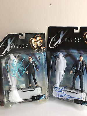 David Duchovny Gillian Anderson Signed Autograph The X Files Figure Coa  Rare