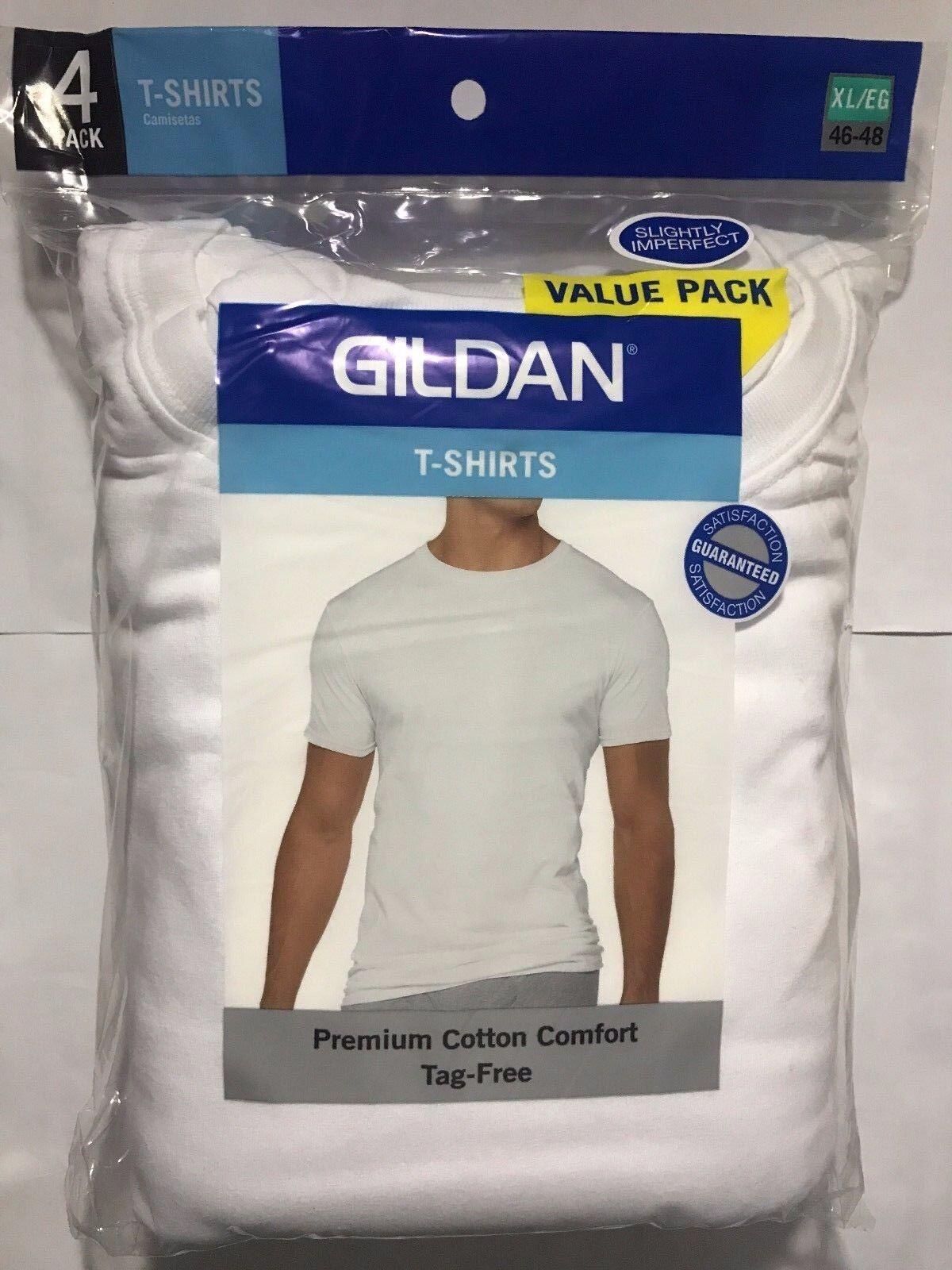 GILDAN MEN'S WHITE CREW NECK T SHIRTS 8 PACK S M L XL COTTON