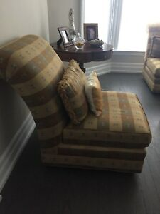 Slipper back chairs