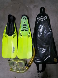 Mirage dive branded snorkeling sets ×3