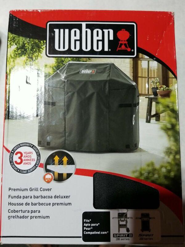 Weber 7138 3 Burner Premium Gas Grill Cover for Spirit 200 series
