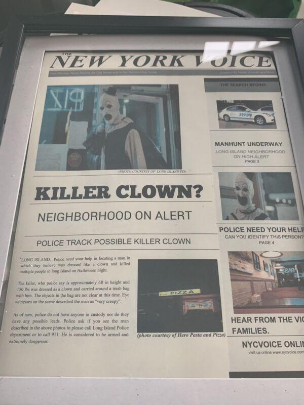 Art The Clown Terrifier Newsprint