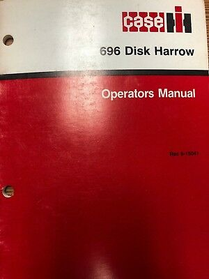 Caseih 696 Disk Harrow Operators Manual