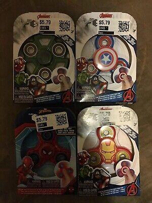 Marvel Avengers Fidget Spinner Hulk Spiderman Ironman Captain America 4 Set!