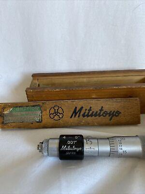 133-225 Mitutoyo Tubular Inside Micrometer 4-5 6005 Q
