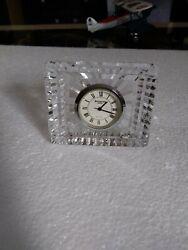 Waterford Rectangular Cut Crystal Small Clock