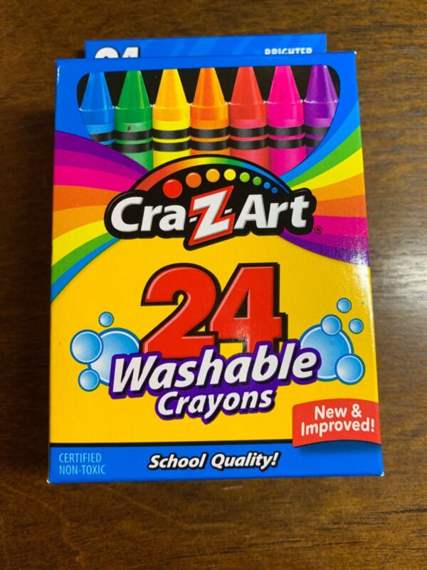 3 Boxes Cra-Z-Art Washable Crayons, 24 Count each