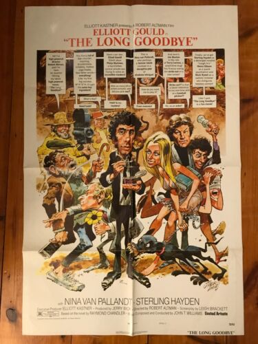 The Long Goodbye One Sheet 1973 Elliott Gould, Nina van Pallandt
