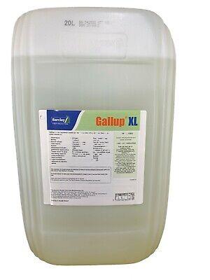 20L GALLUP XL PROFESSIONAL STRENGTH GLYPHOSATE 360g/L TOTAL WEED KILLER