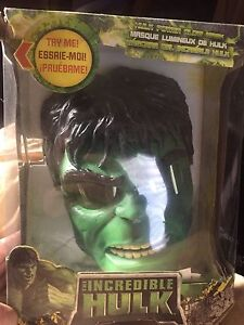 Hulk glowing eyes mask w/hulk gloves