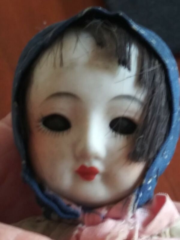 Vintage Bisque Asian Doll- as is