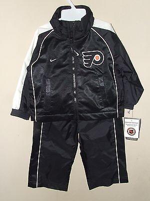 6cd71c10 NWT Nike 18M Philadelphia Flyers Windsuit Jacket Pants Black Lined NHL Coat