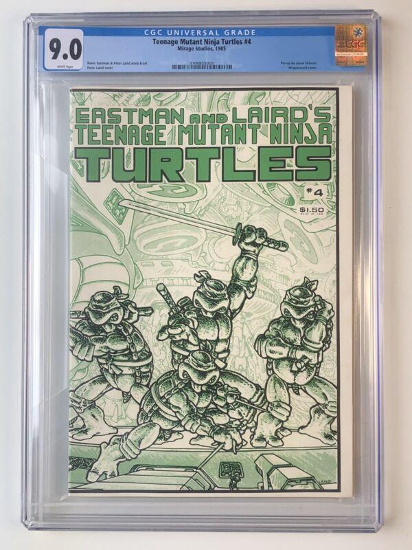 Teenage Mutant Turtles TMNT #4 CGC 9.0 White Pages 1985 Mirage Studios