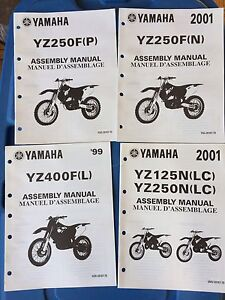 Assorted Yamaha TT YZ Assembly Manuals