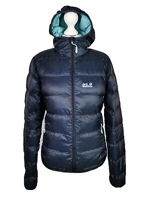 Jack Wolfskin Ladies Blue Short Thermal Down Fill Padded Jacket Coat, Small 8/10
