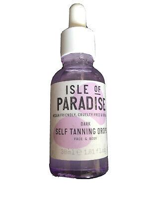 Isle of paradise self tanning drops Dark.