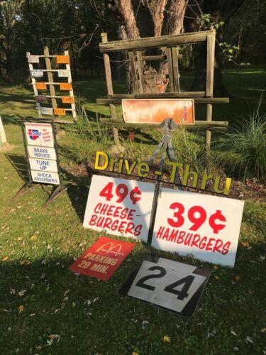 Vintage Original Advertising Sign McDonald's Hamburgers 39 cents Buffalo NY