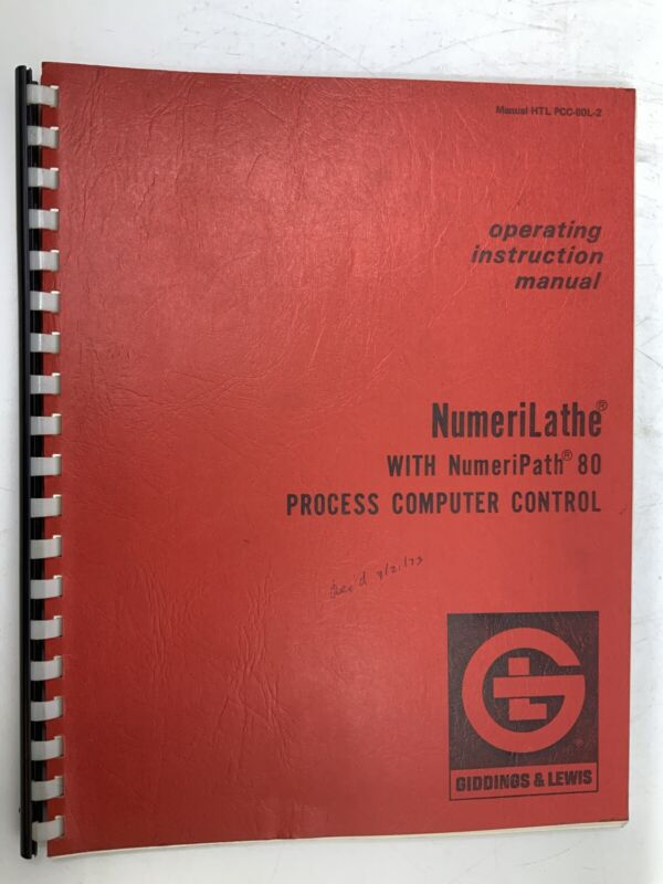 Giddings & Lewis NumeriLathe Process Computer Control Manual