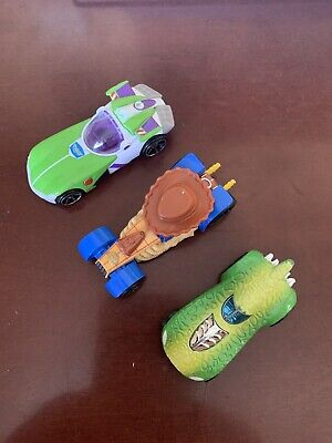 Toy Story Hot Wheels Set Woody Buzz Lightyear Rex