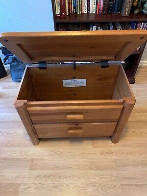 Canon Toy Storage Chest Box solid Pine Wooden  Kids Furniture Organizer Bedroom ()