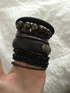 10 black bead bracelets bangles Newcastle Newcastle Area Preview