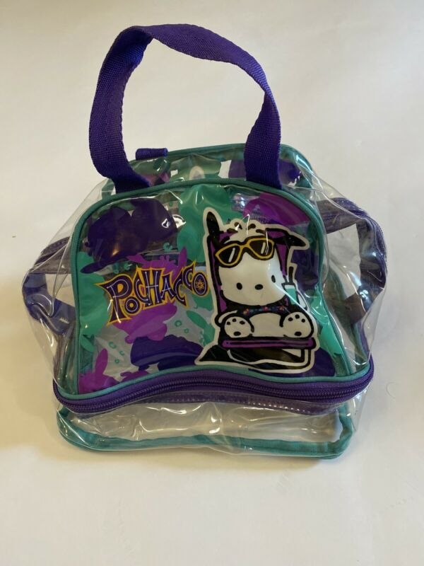 Rare Vintage 1996 Pochacco Clear Bag