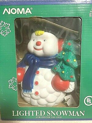 Vtg. Retro 50s/60s Hard Plastic Electric Light Up Christmas Snowman by Noma