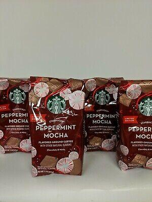 Starbucks Peppermint Mocha Ground Coffee Limited Edition 2019 11 oz New