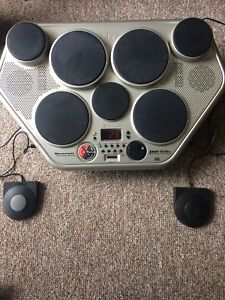 Yamaha drum pad with pedals