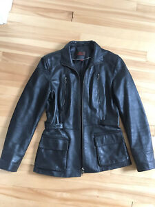 CUIR DANIER soft black leather Jacket