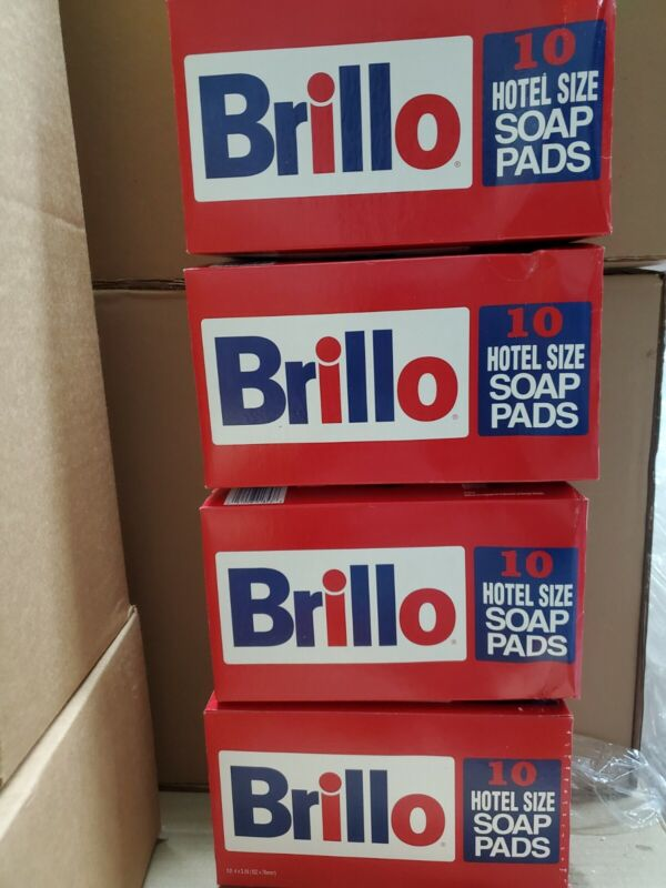 Brillo Hotel Size Steel Wool Soap Pad, 10/box, 4 Bxs 40 Pads NEW