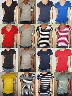 Polo Ralph Lauren Womens T Shirts V Neck   Crew Neck Cotton Jersey Xs S M L Xl