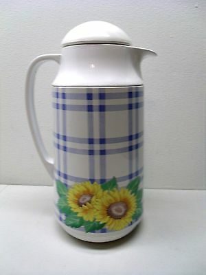 Thermique Corning THERMAL SERVER 1 QUART FLORAL Coffee Tea Carafe Thermos - Thermal-server