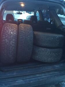 """16"""" 5x114.3 steel rims and winter tire"""